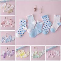 5pairs Newborn Infant Toddler Kids Baby Boy Girl Cotton Cartoon Socks Soft Sock