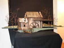 C Jere Bronze Wall Art Sculpture 1973 Water Wheel Mill Building Duck Boat Tree