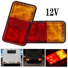 2x12V-80V 10LED Anhänger Rücklicht Rückleuchten PKW LKW Anhänger Beleuchtung DE