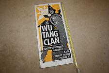 Silk Screen Wu Tang Clan PrintMafia Phoenix AZ 2006 Show Poster Limited 61/100