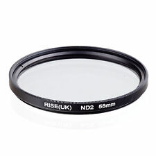 RISE(UK) 58mm Neutral Density ND2 Filter for Canon Nikon Sony Fuji Samsung Lens
