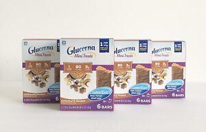 Glucerna Mini Treats Chocolate Peanut 24 Count (4 Boxes Of 6) Exp June 2022