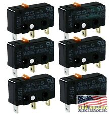 OMRON SS-5 MICRO SWITCH 5A 125VAC 3A 250VAC (Pack of 6)