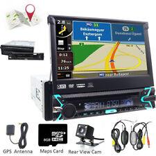 Autoradio Coche Con A Navegador GPS Bluetooth 1Din DVD CD Player+Wireless cámara