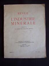 Revue de l'industrie minérale - N°531 1948