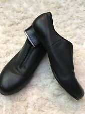 Bloch Tap Womens Flex Slip On Size 9 M Black Leather