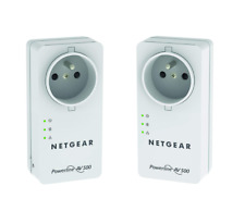 2x Netgear AV500 Powerline Adapter 500mbs Internet a.d. Steckdose Strom Powerlan