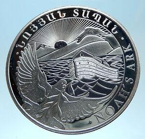 2015 Armenia 500 Dram SILVER PROOF Noah's Ark ARMENIAN Authentic Coin i77538
