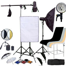 Studio Flash Strobe Lighting Kit 450 W Softbox Shooting Table Trigger Kit photogr