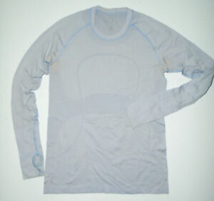 LULULEMON Long Sleeve Tech T-Shirt RUN SWIFTLY Thumb Holes Yoga LILAC PURPLE 10