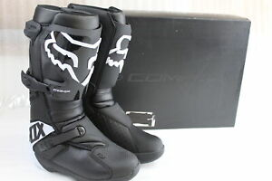 FOX RACING WOMEN'S COMP BOOTS SIZE 11 BLACK / WHITE #24013-001-11