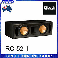 Klipsch Reference Series RC-52 II Centre Speaker - Black Ash - Brand New