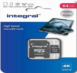 64GB Micro SD Card Memory V30 U3 Class 10 For DJI Phantom 4 Pro Drone 4K Video