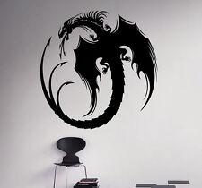Dragon Wall Vinyl Decal Monster Vinyl Sticker Medieval Home Bedroom Interior 3