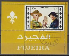 Fujeira 1971 Bl.62 A fine used c.t.o. Pfadfinder Scouts Scouting