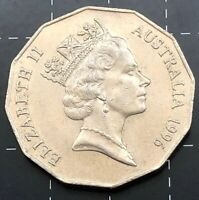 1996 AUSTRALIAN 50 CENT COIN - EF