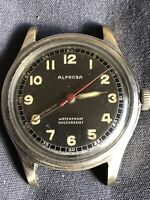 WWII period MEN'S Alprosa By ENICAR Military Watch , Need Service