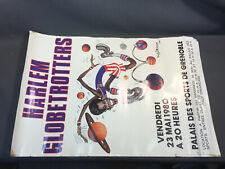 Ancien poster affiche HARLEM GLOBETROTTERS illustr. Andy Dickson Basket vintage