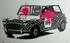 Rare print MINI SPLAT Embossed  AP ,Signed,Dismaland,Banksy,COA
