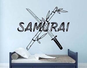 Samurai Ronin Warrior Sword Shogan Art Wall Vinyl Decal Sticker Decor TK2543
