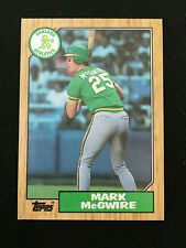 MARK MCGWIRE ROOKIE TOPPS 1987 OAKLAND A'S RC BASEBALL CARD  HOT!! HOT!!