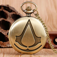 Special Gift Antique Style Bronze Pocket Watch Quartz Necklace Chain Steampunk