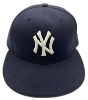 New York Yankee's New Era 59fifty Authentic Collection Black Brim 7 1/4 Hat Cap
