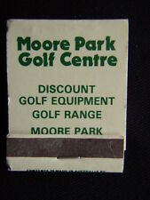 MOORE PARK GOLF CENTRE GOLF COURSE RANGE DISCOUNT EQUIPMENT 6633960 MATCHBOOK