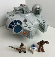 Star Wars Millennium Falcon Hasbro R2D2 , Chewie , Rey . Imaginext