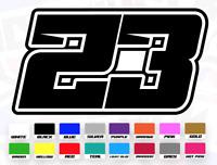 3 X Custom Race Numbers sets Vinyl Stickers//Decals Motorbike track racing