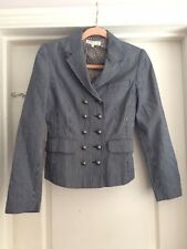 Kew Size 8 Blue White Striped Blazer Jacket