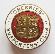 """BOURNEMOUTH - Vintage """"Cherries"""" Supporters Club Enamel Football Pin Badge"""