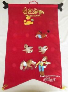 Walt Disney World Kellogg's Wall Hanging & Characters Woody Timon Bullseye more