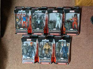 Marvel Legends SPIDER-MAN RHINO BAF WAVE FULL COMPLETE SET of 7 NEW MIB NIB