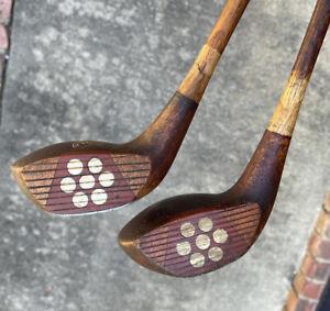 Antique Hickory Wood Shaft MacGregor Master Brassie & Spoon