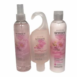 Avon Senses Body Care Blushing Charme Cherry Blossom Gift Set / Shower Set