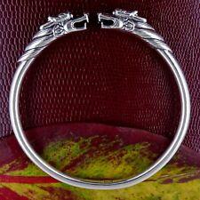 Dragon Bangle Sterling Silver Handmade Bracelet 34g Unisex Gift