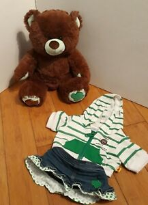 Build-a-Bear Girl Scout Thin Mints Plush Bear with Denim Skirt & Hoodie Jacket