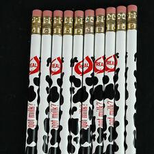 GOT MILK Real Dairy Cow Patern Pencils Lot of 10 - VTG 90's NOS Farming