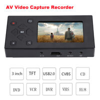 "3"" Video Capture Card AV Recorder Audio Converter Digital Analog USB DVD TF Game"