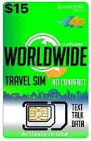 Worldwide Travel SIM Card - International Talk Text Data in Over 200 Countries