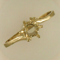 PRENOTCHED 6MM ROUND SOLITAIRE RING IN YELLOW GOLD SIZES 5-9 CR107-10KY