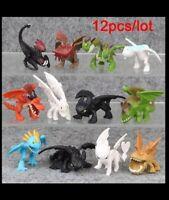 12 Drachenzähmen leicht gemacht Toothless Ohnezahn Figuren Figures Dragon