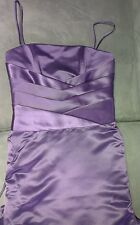 Purple Corset Style Satin Evening Formal Ball Gown Bridesmaid Dress Sz 10 BNWT
