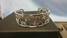Welsh Clogau Sterling Silver & Rose Gold Tree Of Life Bangle RRP £460