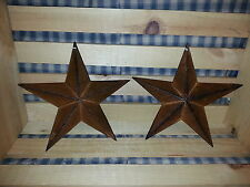 "Set of 2 Primitive 8"" Rusty Barn Star - Decorate, Crafting, Rustic, Metal, Stars"