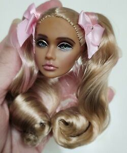 Fashion OOAK Poppy Parker Head FR Royalty Barbie Silkstone