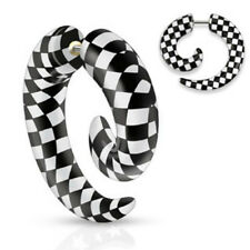 2 X All UV Checkers Printed Spiral Fake Taper