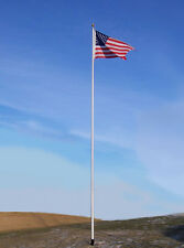 16' Telescoping Flagpole Elite Flag Pole Usa Made 7 Year Warranty + Free Flag