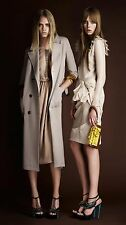 $3,095 Burberry Prorsum 6 8 40 Patch Pocket Draped Trench Coat Jacket Women Gift